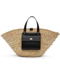 Dolce & Gabbana ベージュ Kendra Coffa トート - ブラック
