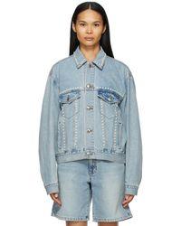 we11done Blue Denim Pearl Jacket