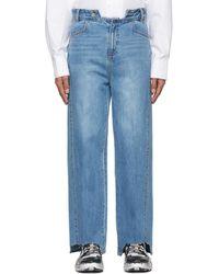 ADER error Blue Bite Jeans