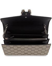 Gucci Beige GG Supreme Dionysus Chain Wallet Bag - Black