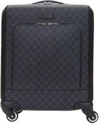 Gucci ブラック ミニ GG スプリーム トロリー スーツケース