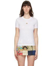 Dolce & Gabbana - ホワイト Dg ロゴ T シャツ - Lyst