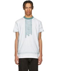 DSquared² - White And Blue 50s Prom Cool Fit T-shirt - Lyst