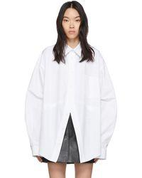 Balenciaga ホワイト スウィング シャツ