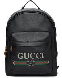 Gucci - ブラック プリント バックパック - Lyst