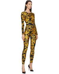 Versace Jeans Couture Ceinture en cuir noire Couture I - Multicolore