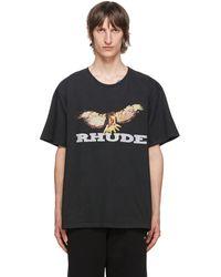 Rhude - ブラック ビンテージ Eagle T シャツ - Lyst
