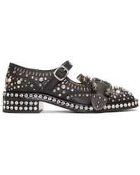 Gucci - Black And Crystal Queercore Mary Jane Brogues - Lyst