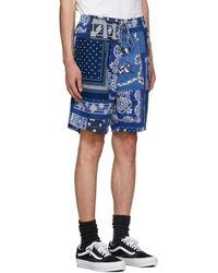 Neighborhood Short bleu marine à imprimé bandana