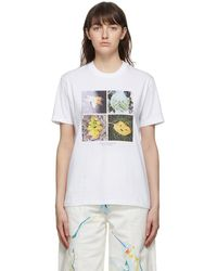 Stella McCartney - ホワイト Faces In Places T シャツ - Lyst