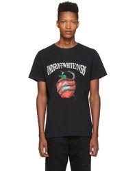 Off-White c/o Virgil Abloh Black Undercover Edition Apple T-shirt