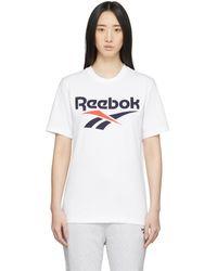 Reebok ホワイト クラシック ベクター T シャツ