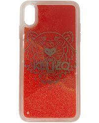 KENZO レッド グリッター タイガー ヘッド Iphone X/xs ケース - マルチカラー