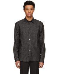 PS by Paul Smith - Black Tailored Denim Shirt - Lyst