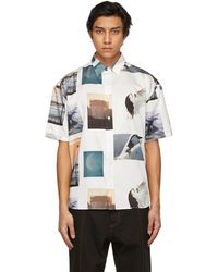 Etudes Studio White Roe Ethridge Edition All-over Print Lyrique Short Sleeve Shirt