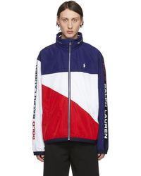 Polo Ralph Lauren ブルー And レッド Chariots ジャケット