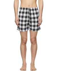 Solid & Striped - Black And White Classic Gingham Swim Shorts - Lyst