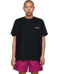 Wooyoungmi Black Embroidered Logo T-shirt