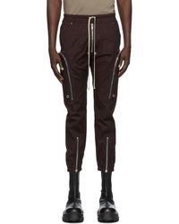 Rick Owens Burgundy Bauhaus Cargo Trousers - Black