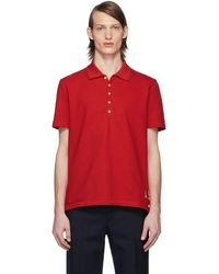 Thom Browne Polo rouge Center-Back Stripe