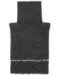 Maison Margiela グレー ウール And モヘア ネック ウォーマー スカーフ