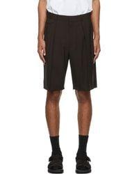 The Row Brown Cello Shorts - Black