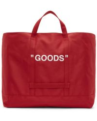 Off-White c/o Virgil Abloh - Red Quote Tote - Lyst