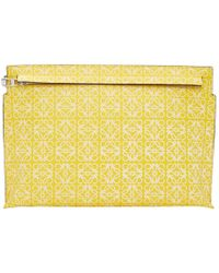 Loewe - Yellow Repeat T Pouch - Lyst