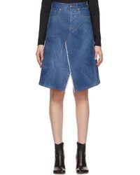 MM6 by Maison Martin Margiela Indigo Faded Skirt - Blue