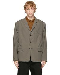 Lemaire Grey Soft Single Breasted Blazer