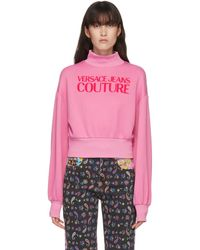 Versace Jeans Couture ピンク ロゴ タートルネック