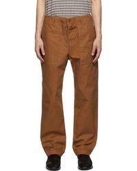 Engineered Garments - ブラウン Fatigue トラウザーズ - Lyst