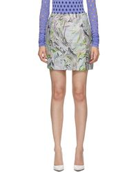 Maisie Wilen Blue Call Me Mini Skirt