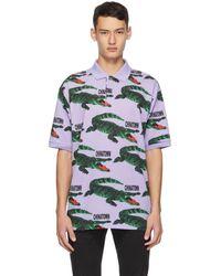 Lacoste Chinatown Market Edition パープル ビッグ クロコ ポロシャツ - マルチカラー