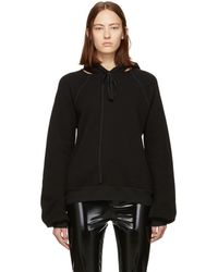 Unravel - Black Cut-out Hoodie - Lyst