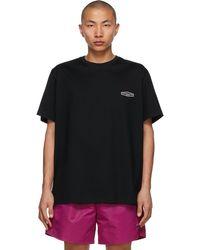 Wooyoungmi T-shirt à logo brodé noir