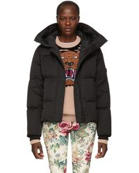 514138bd7e52 Kenzo Cropped Down Jacket in Black - Lyst
