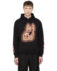 McQ - Black Bunny Be Here Now Big Hoodie - Lyst