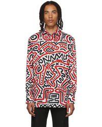Etudes Studio Keith Haring Edition マルチカラー All Over Reflet シャツ - レッド