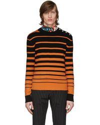Paco Rabanne Black & Orange Sailor Sweater