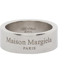 Maison Margiela - シルバー ロゴ リング - Lyst