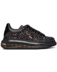 Alexander McQueen - Ssense Exclusive Black Galaxy Glitter Oversized Sneakers - Lyst