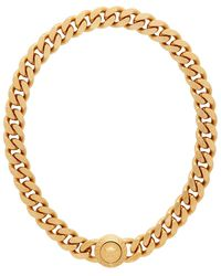 Versace Gold Tribute Necklace - Metallic