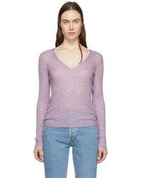 Rag & Bone - Purple Donna V-neck Sweater - Lyst
