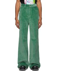 Marc Jacobs Green Flared Jeans