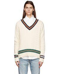 Polo Ralph Lauren オフホワイト V ネック セーター - マルチカラー