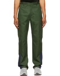 GR10K Green Ripstop Df Processing Patch Cargo Pants