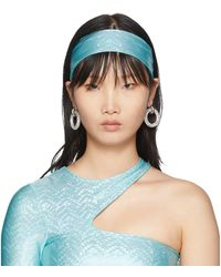 Saks Potts Ssense Exclusive Blue Stretch Headband