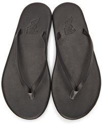 Ancient Greek Sandals - ブラック Saionara サンダル - Lyst