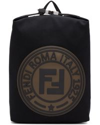 Fendi - Black Roma Italy 1925 Backpack - Lyst
